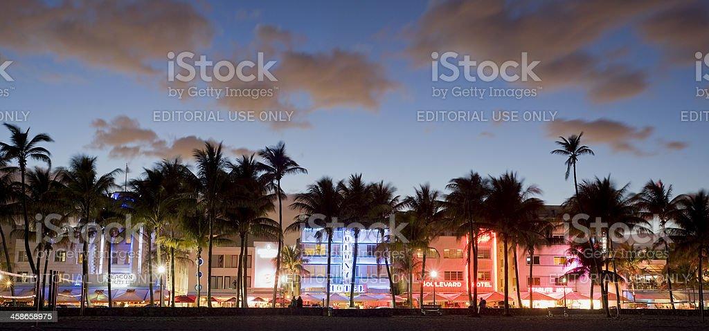 Miami Beach City Skyline in Florida USA royalty-free stock photo