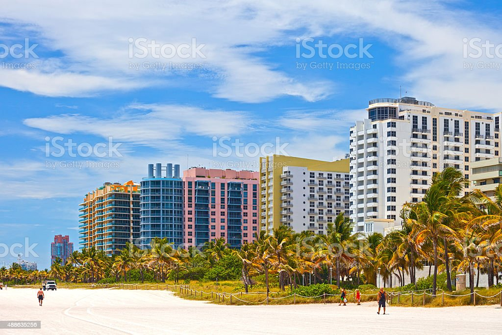 Miami Beach Florida, USA stock photo