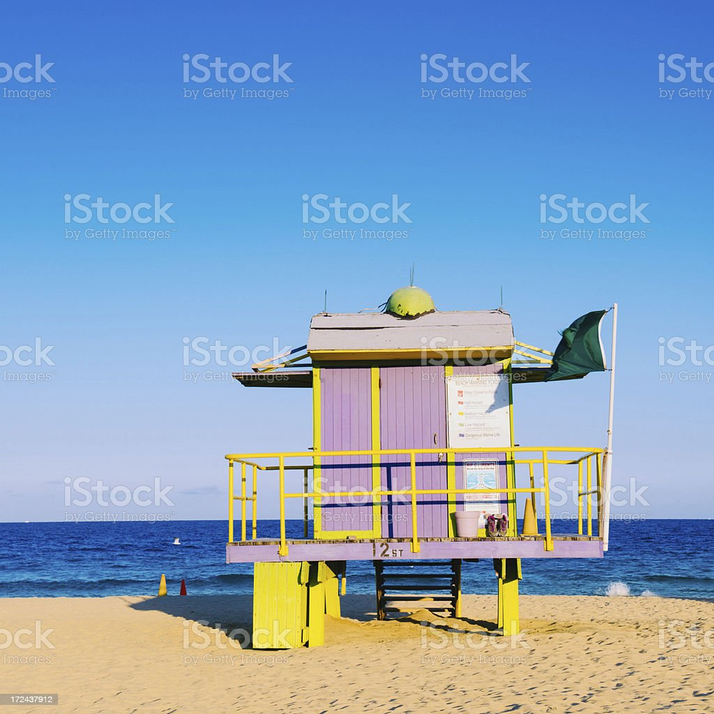 Miami Beach Lifeguard Hut royalty-free stock photo