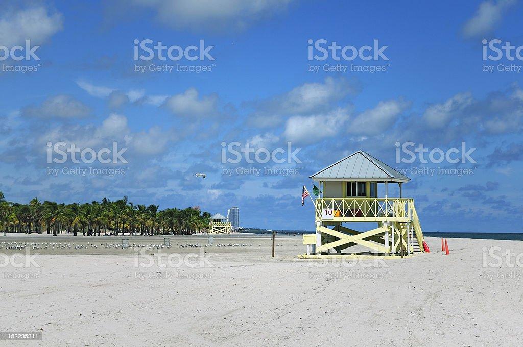 miami beach lifeguard station at crandon park key biscayne stock photo