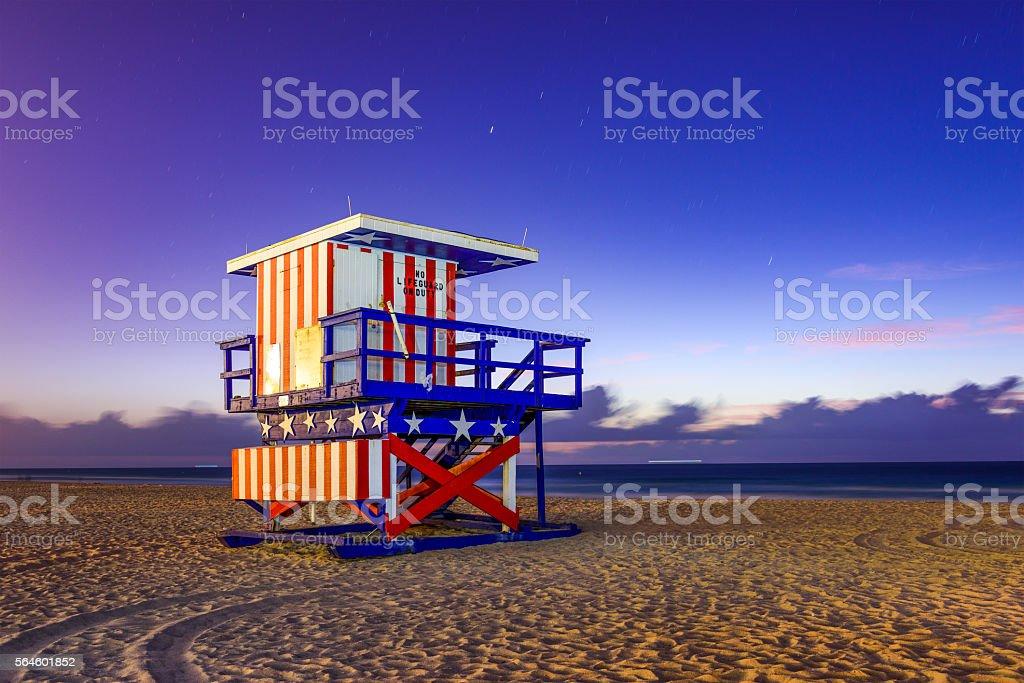Miami Beach Lifeguard Tower stock photo
