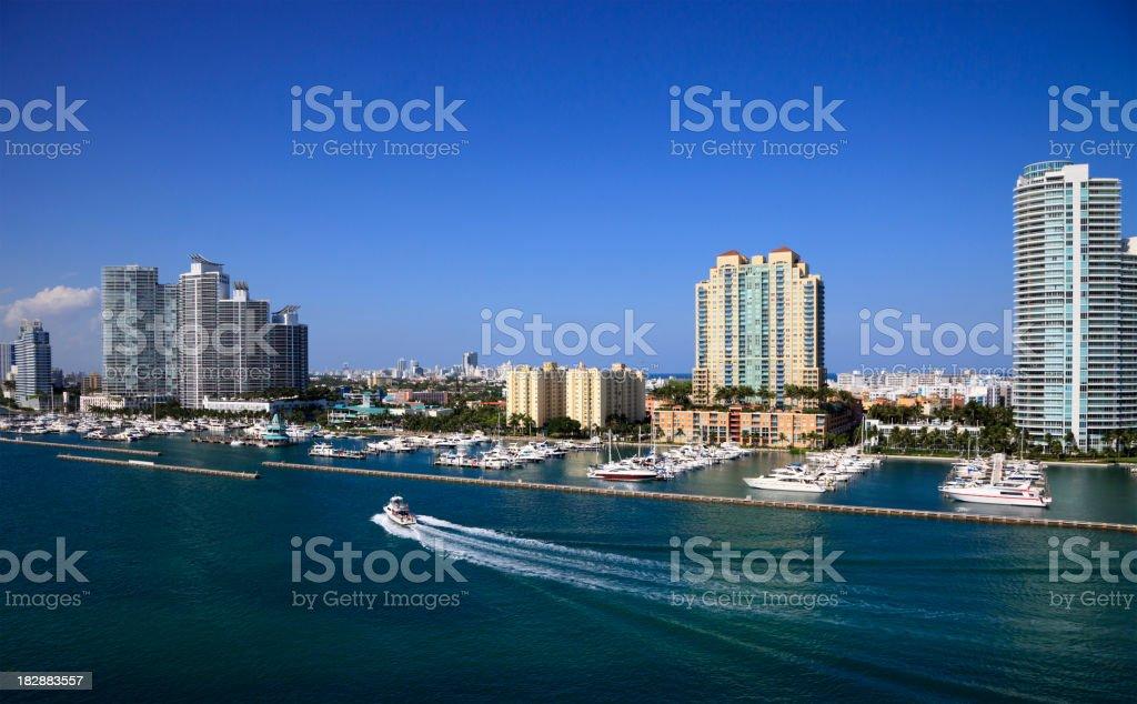 Miami beach marina stock photo