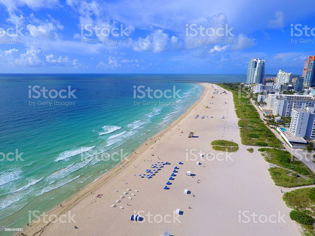 Miami Beach on a beautiful day stock photo