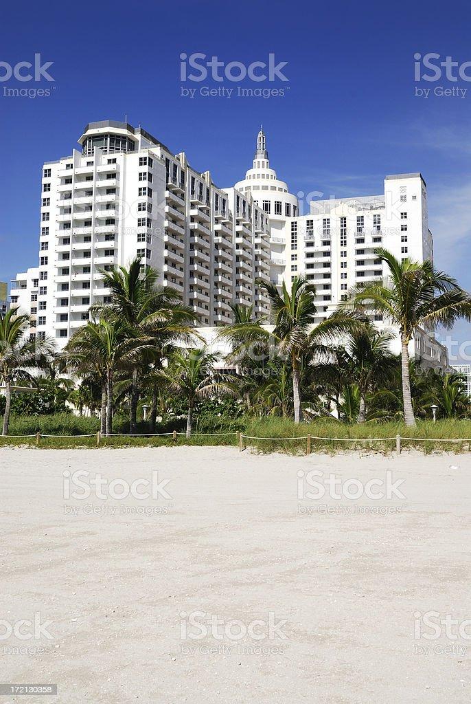 miami beach resort and hotel stock photo