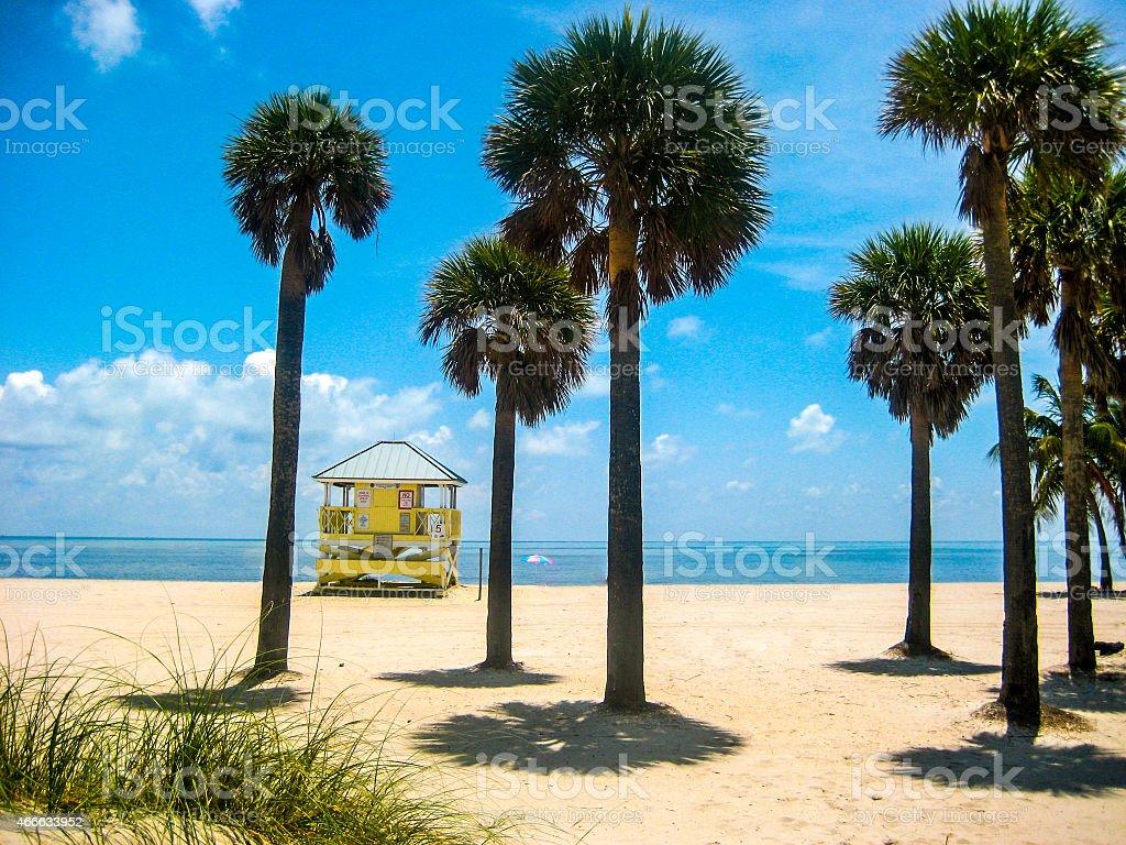 Miami Beach scene stock photo