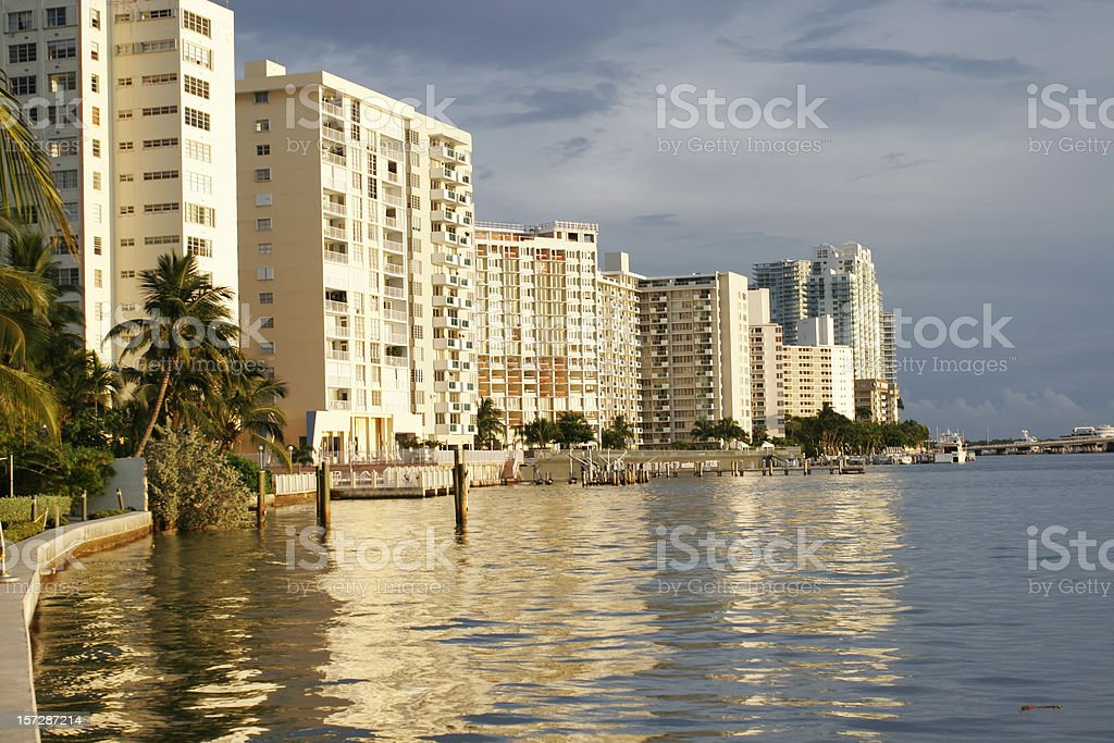 Miami Beach Skyline royalty-free stock photo