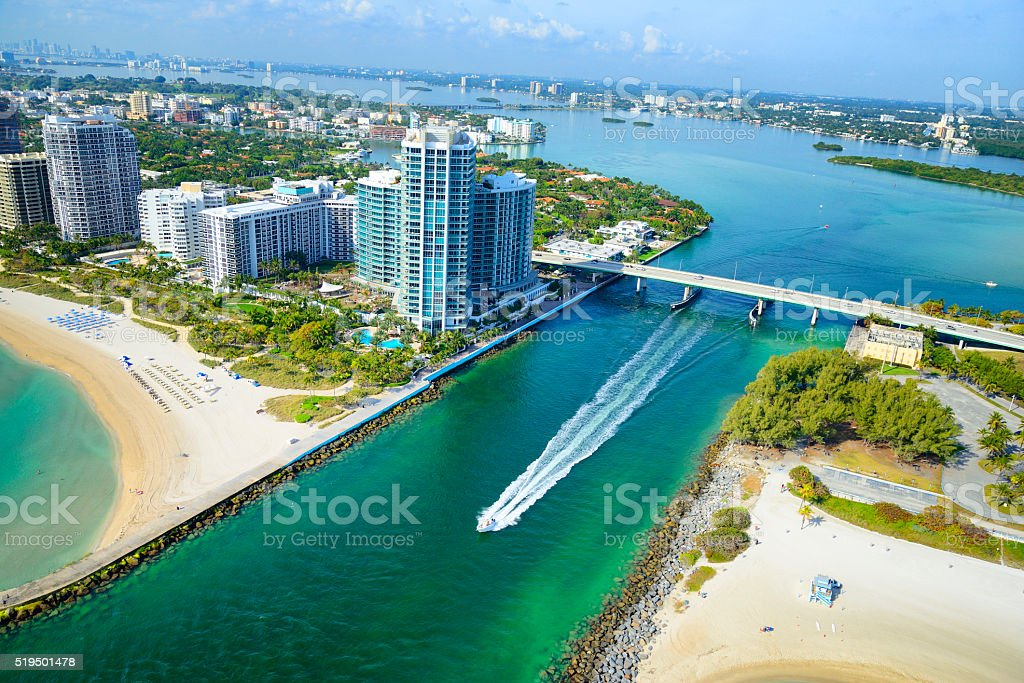 Miami Beach skyline stock photo
