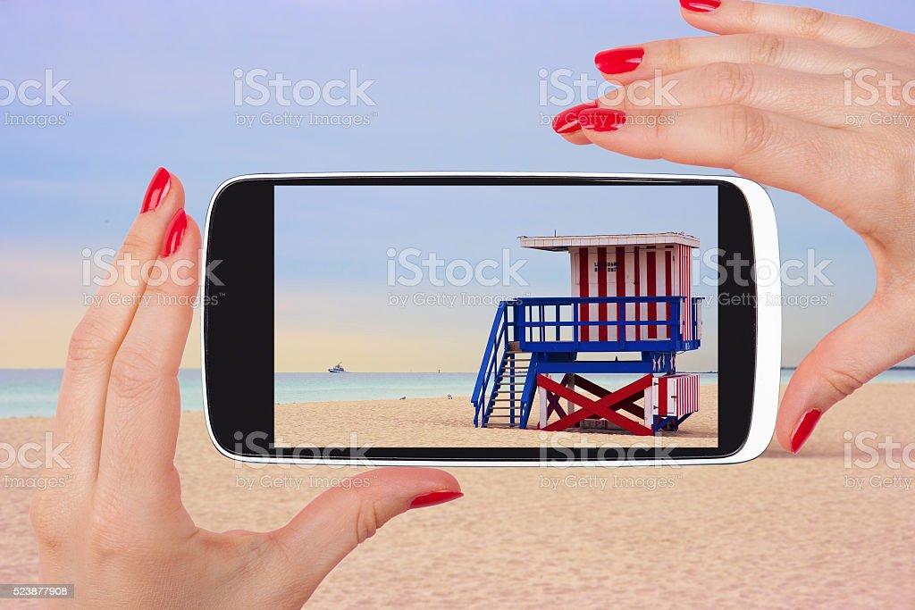 Miami beach snapshot. stock photo