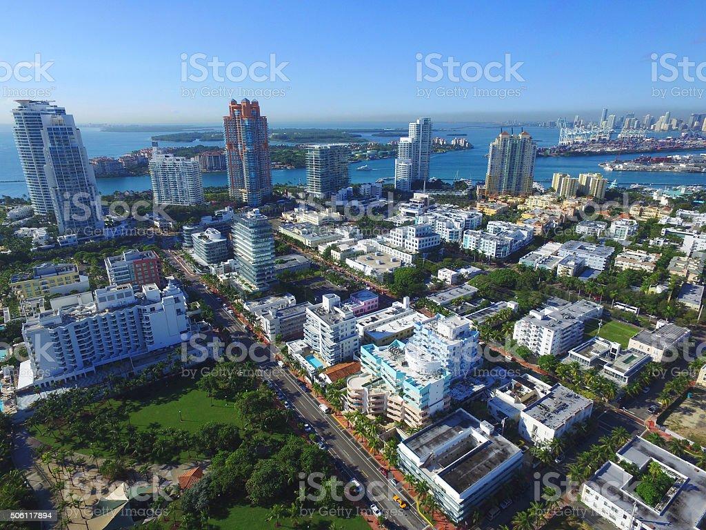 Miami Beach south of 5th Street stock photo