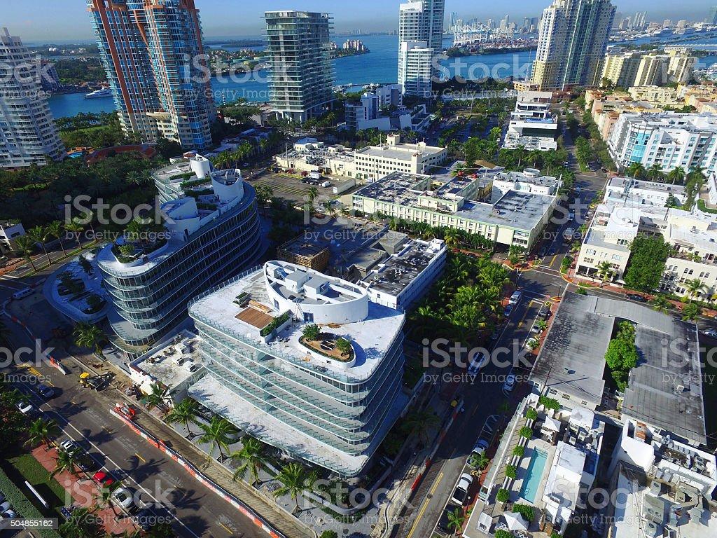 Miami Beach south of5th Street stock photo