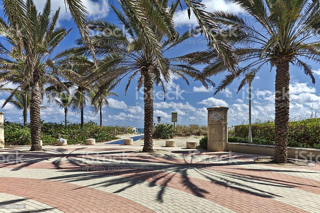Miami Beach Walkway royalty-free stock photo