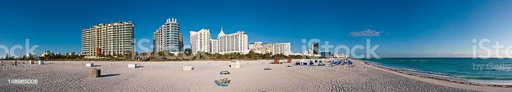 Miami Beach waterfront panorama royalty-free stock photo