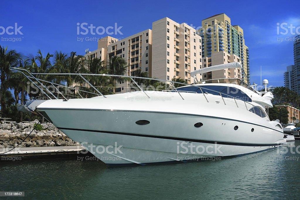 miami beach yacht way of life royalty-free stock photo