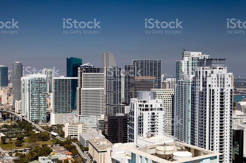 Miami Brickell Downtown Skyline royalty-free stock photo