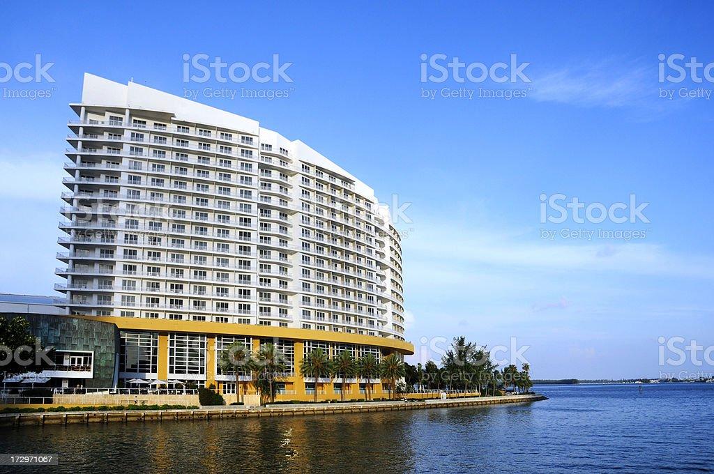 miami brickell key hotel. stock photo