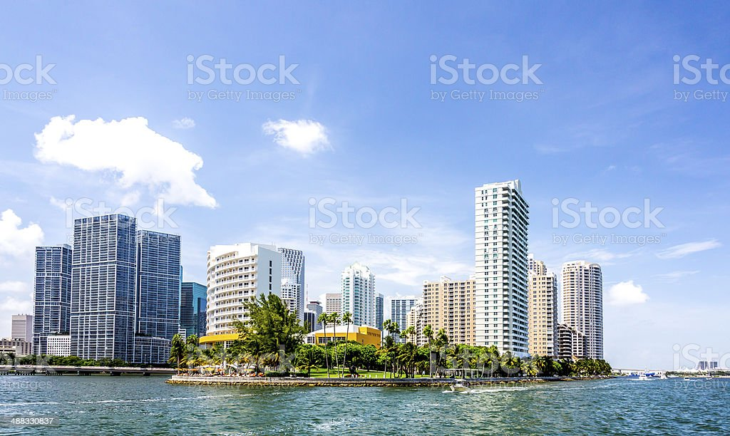 Miami Brickell Key stock photo