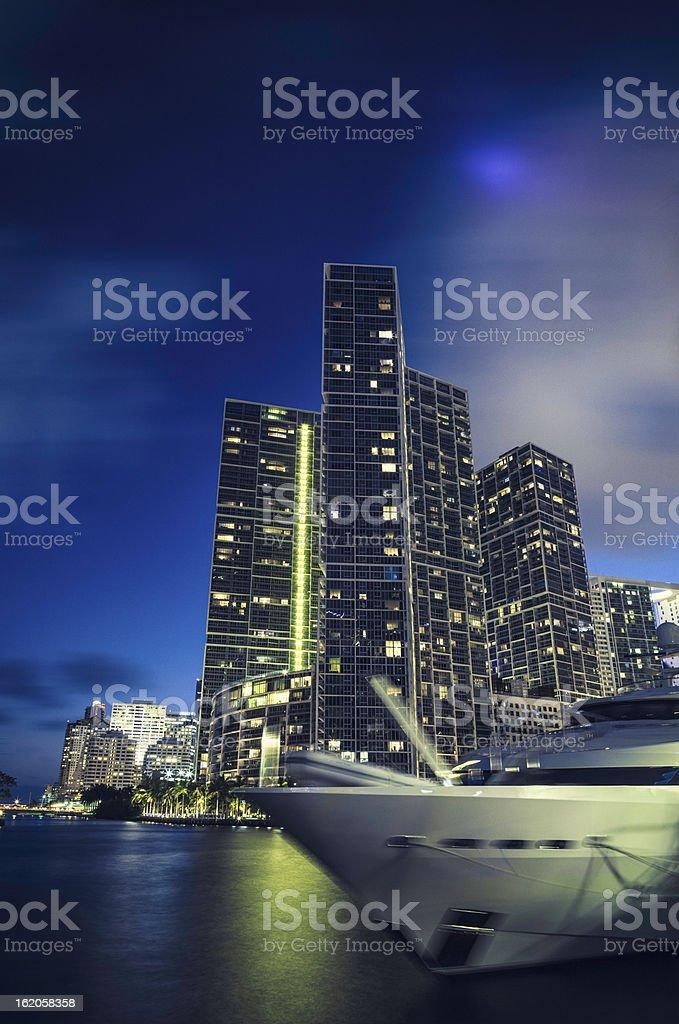 Miami city, Brickell Buildings royalty-free stock photo