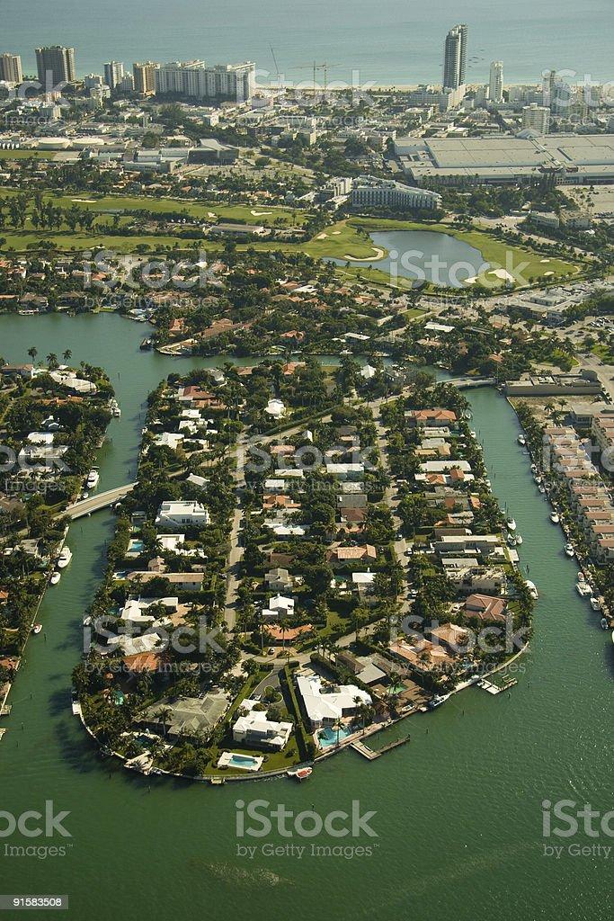 Miami city coastline royalty-free stock photo