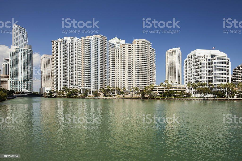 Miami city Florida, USA, view of downtown financial buildings stock photo