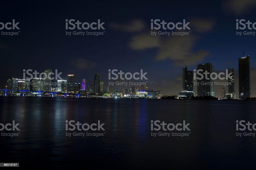Miami city of light (XL) royalty-free stock photo