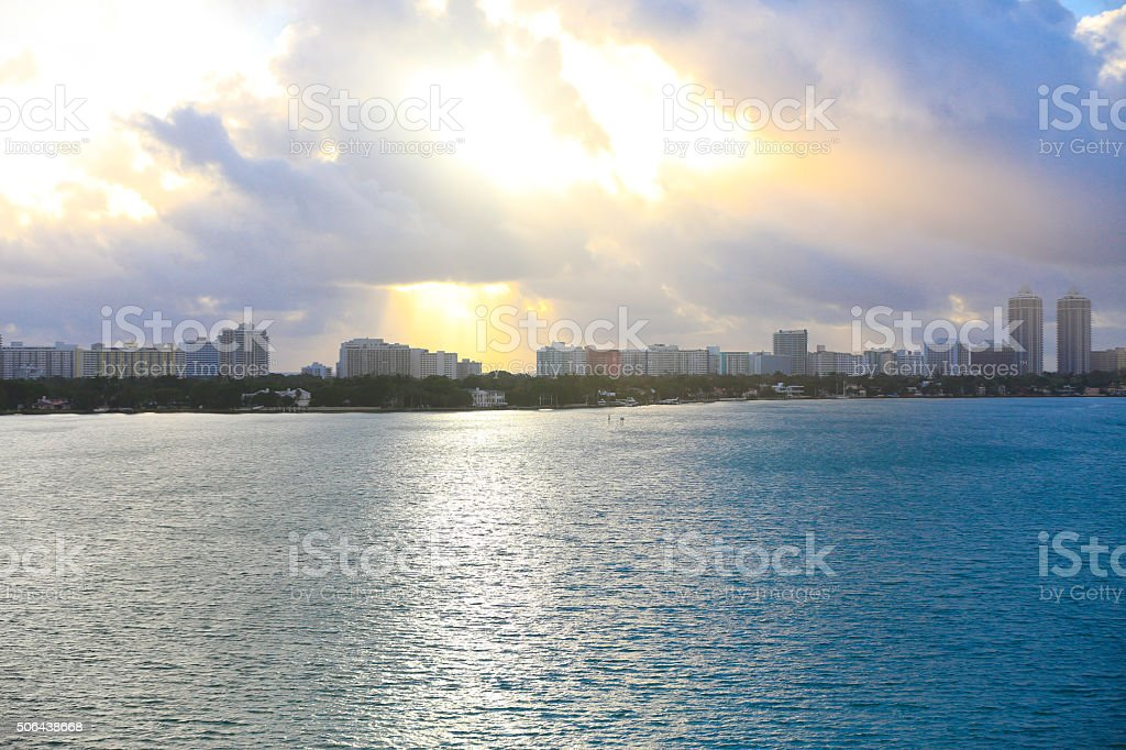 Miami City Skyline stock photo