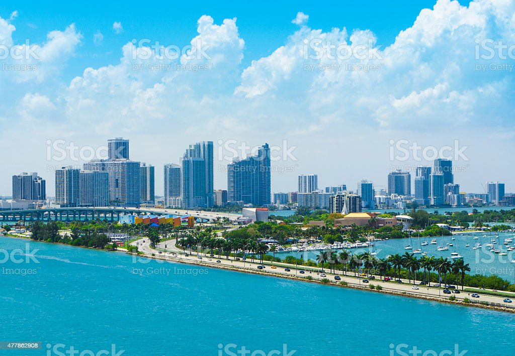 Miami Cityscape View stock photo