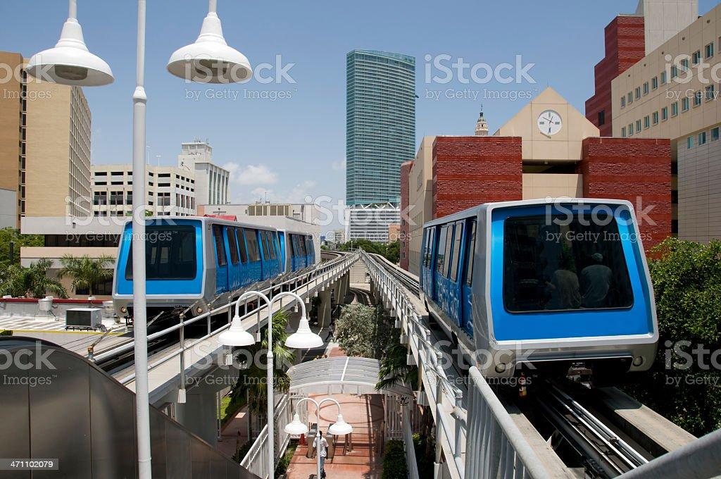 Miami Commuter Train royalty-free stock photo