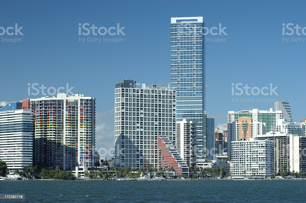 Miami Condos royalty-free stock photo