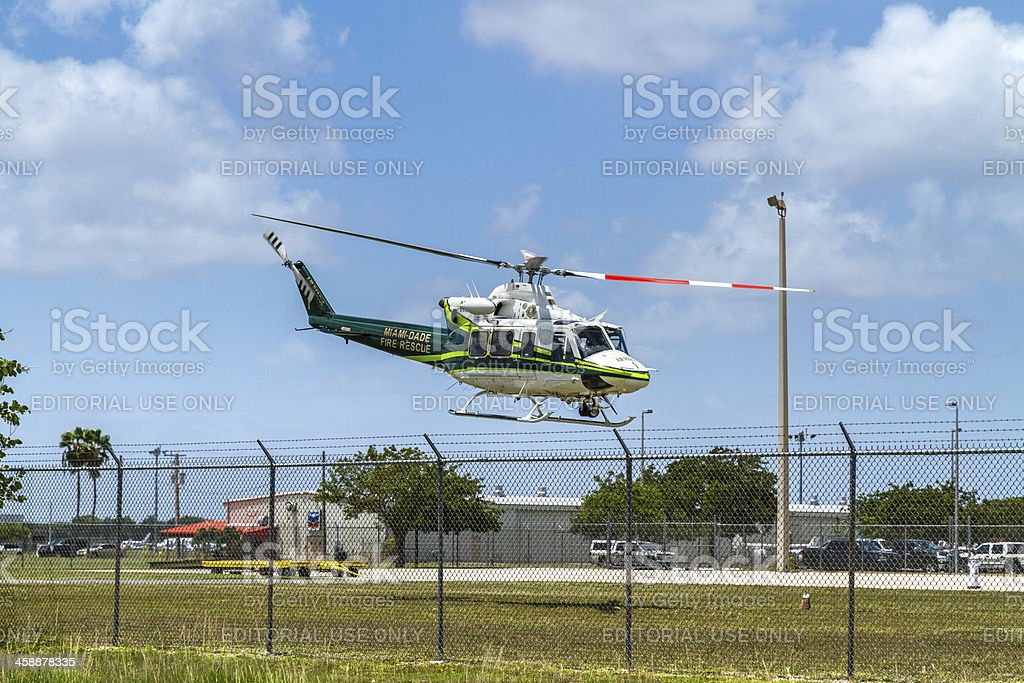Miami Dade Fire Rescue Helicopter II royalty-free stock photo