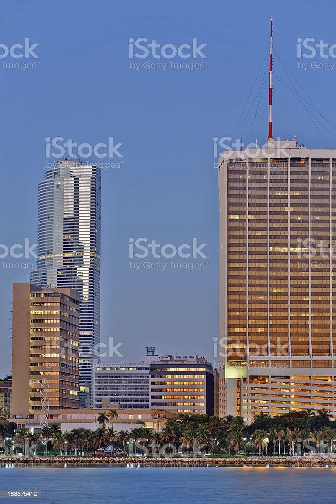 Miami dawn stock photo