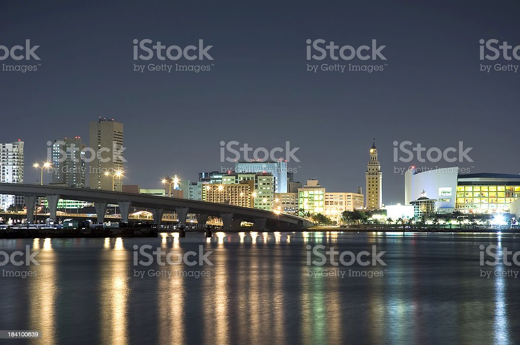 miami downtown emblematic buildings stock photo