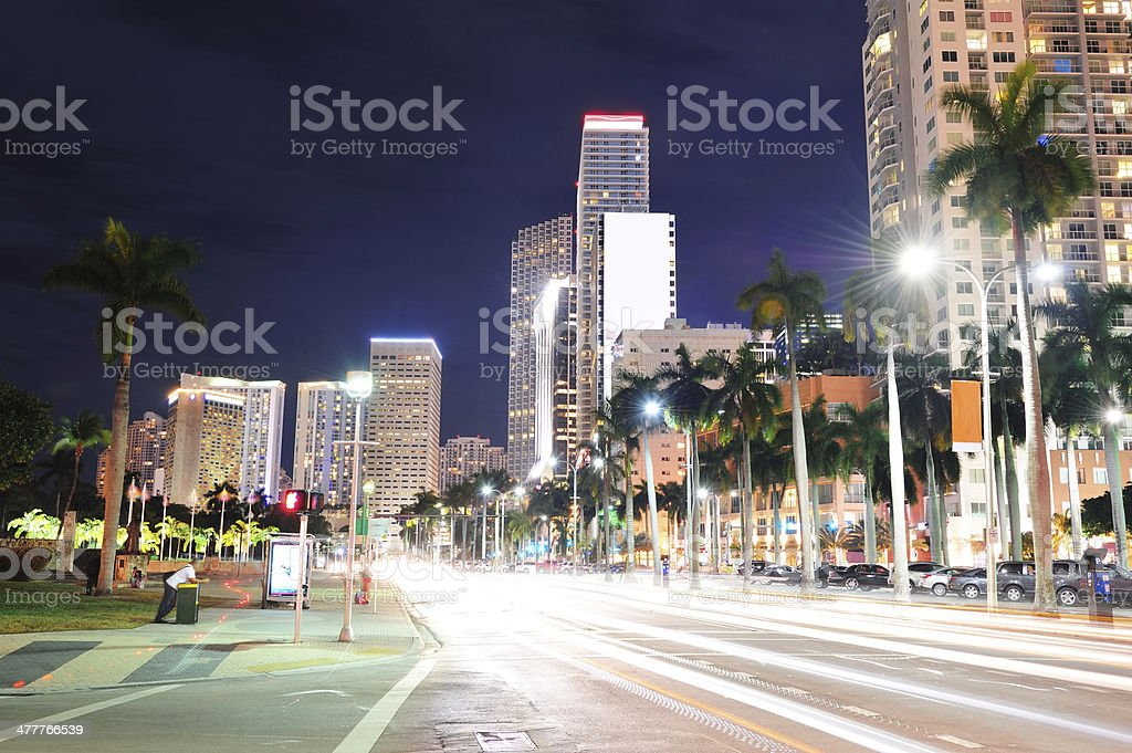 Miami downtown royalty-free stock photo