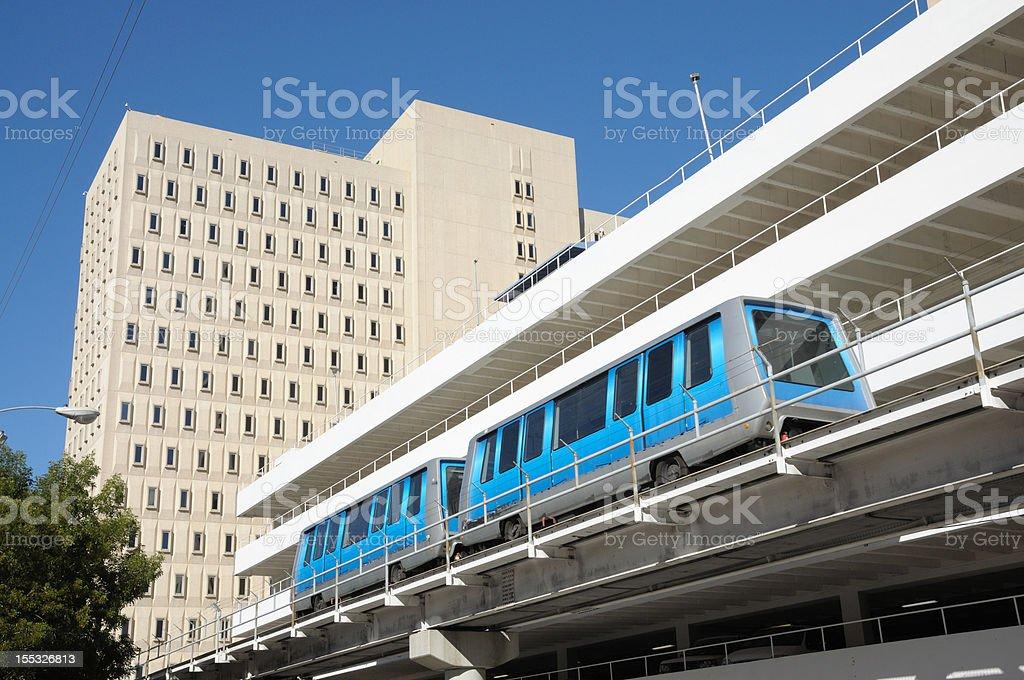 Miami downtown train system royalty-free stock photo