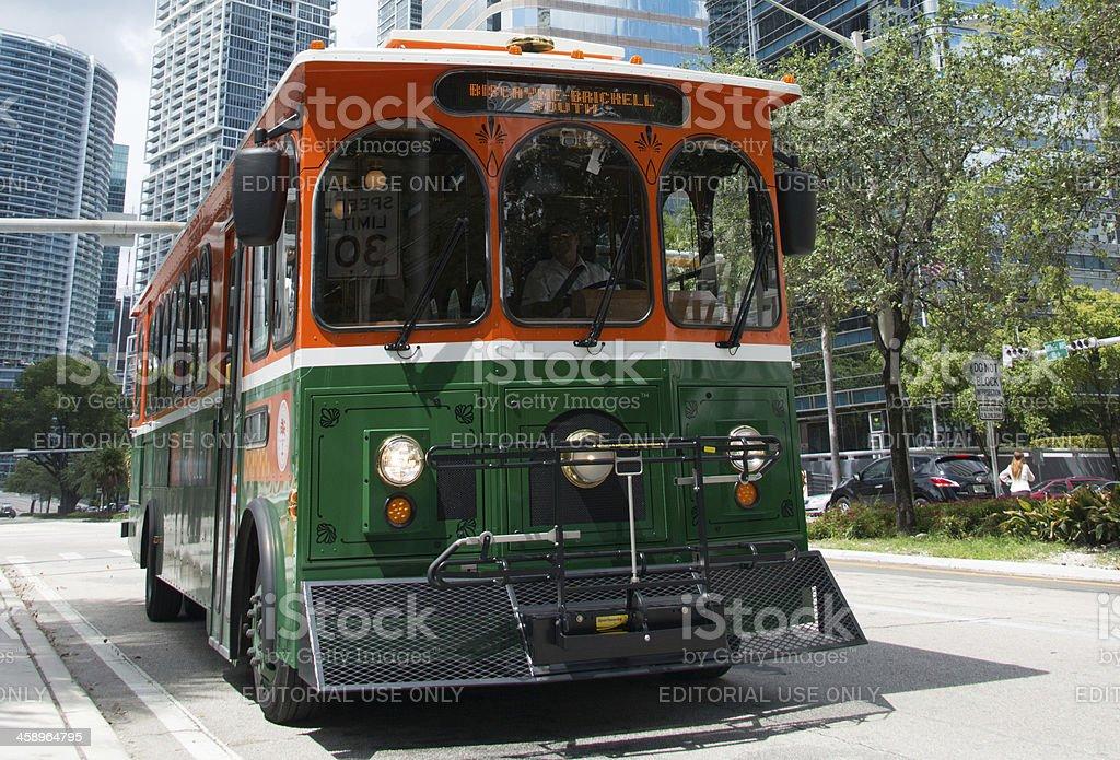 Miami DownTown Trolley Bus stock photo