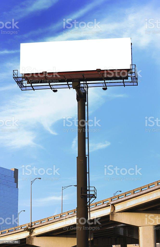 miami empty billboard royalty-free stock photo