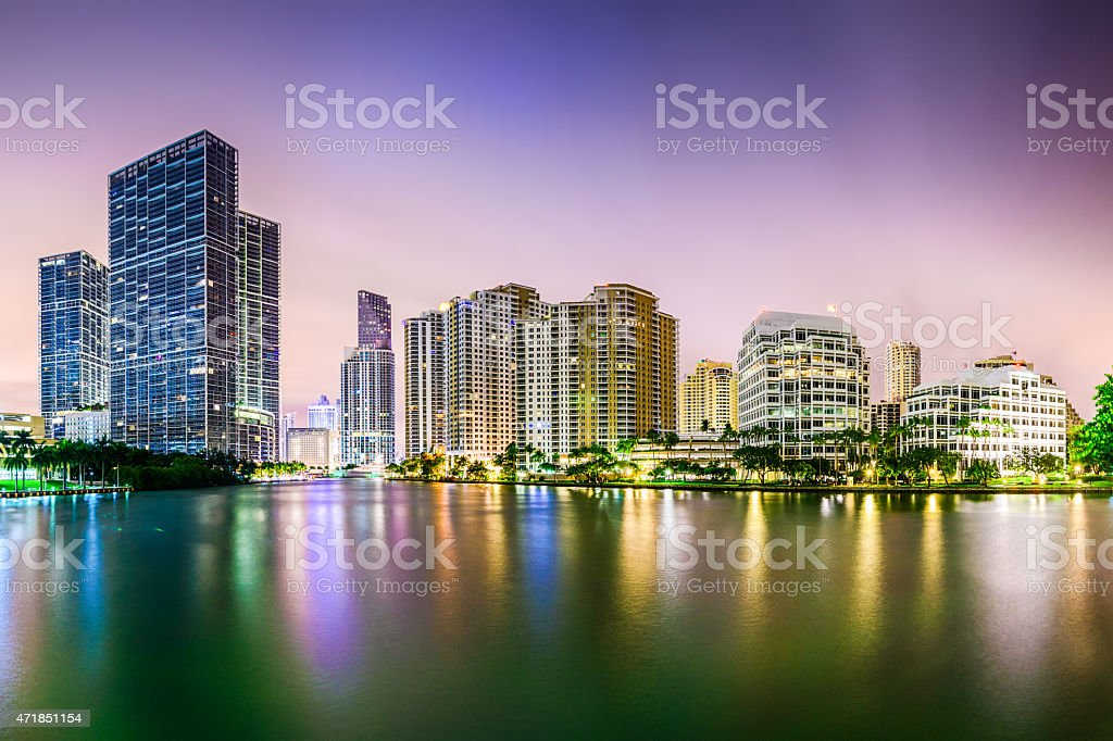 Miami Florida Cityscape stock photo