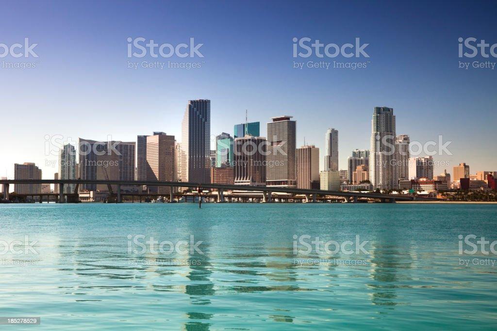 Miami Florida daytime skyline stock photo