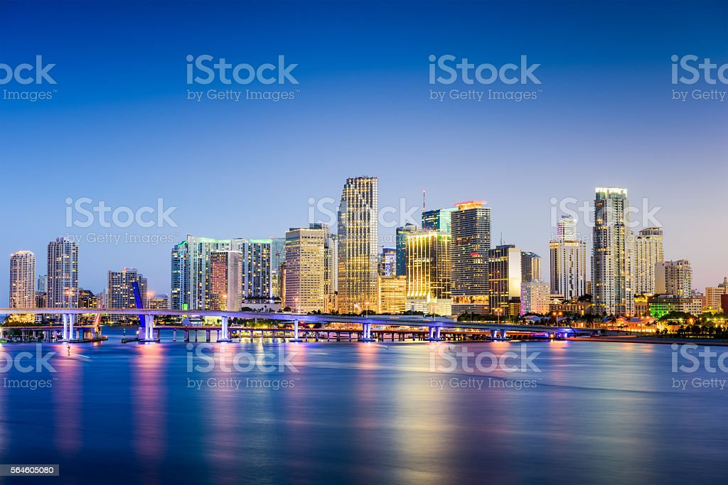 Miami, Florida Skyline stock photo