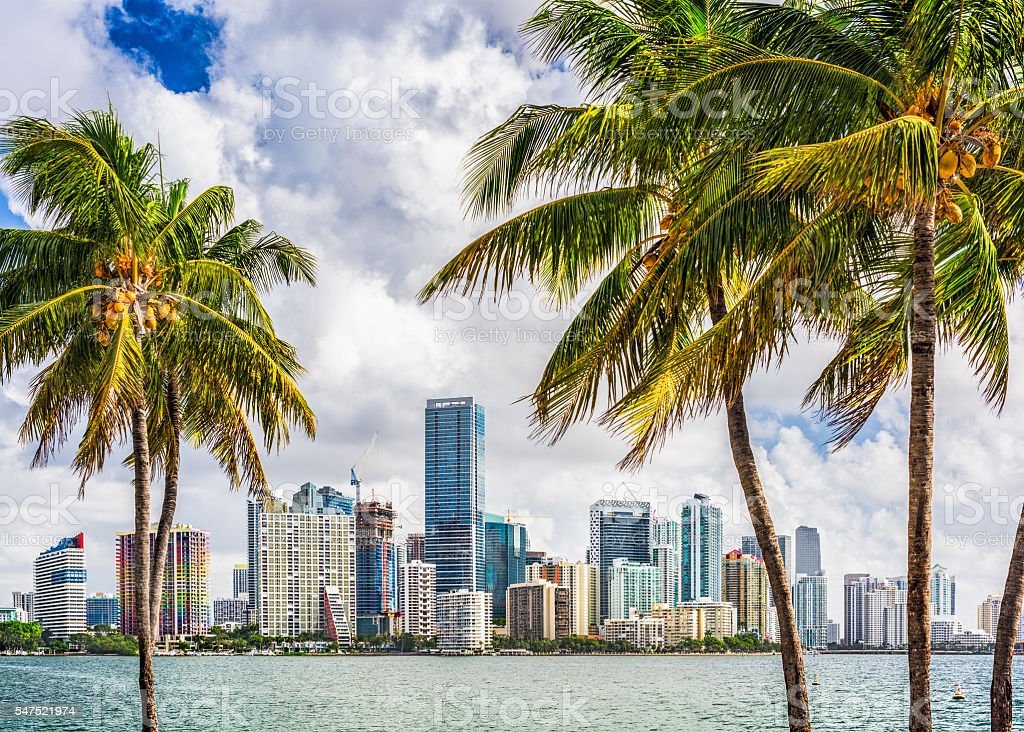 Miami, Florida, USA stock photo