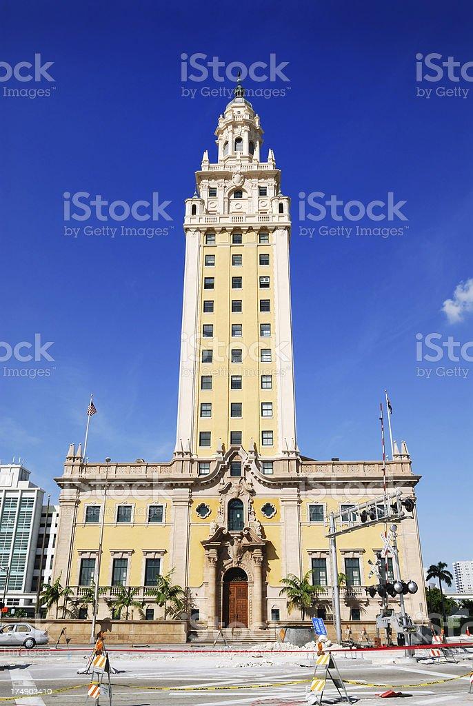 miami freedom tower stock photo
