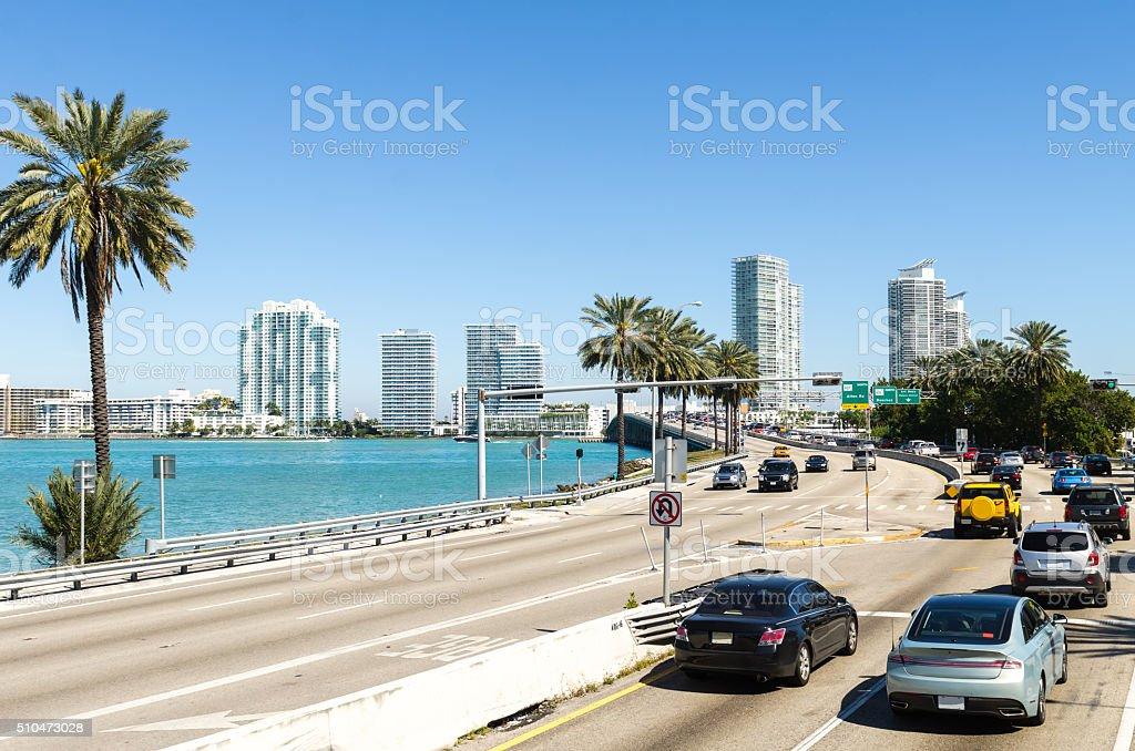 Miami highway stock photo