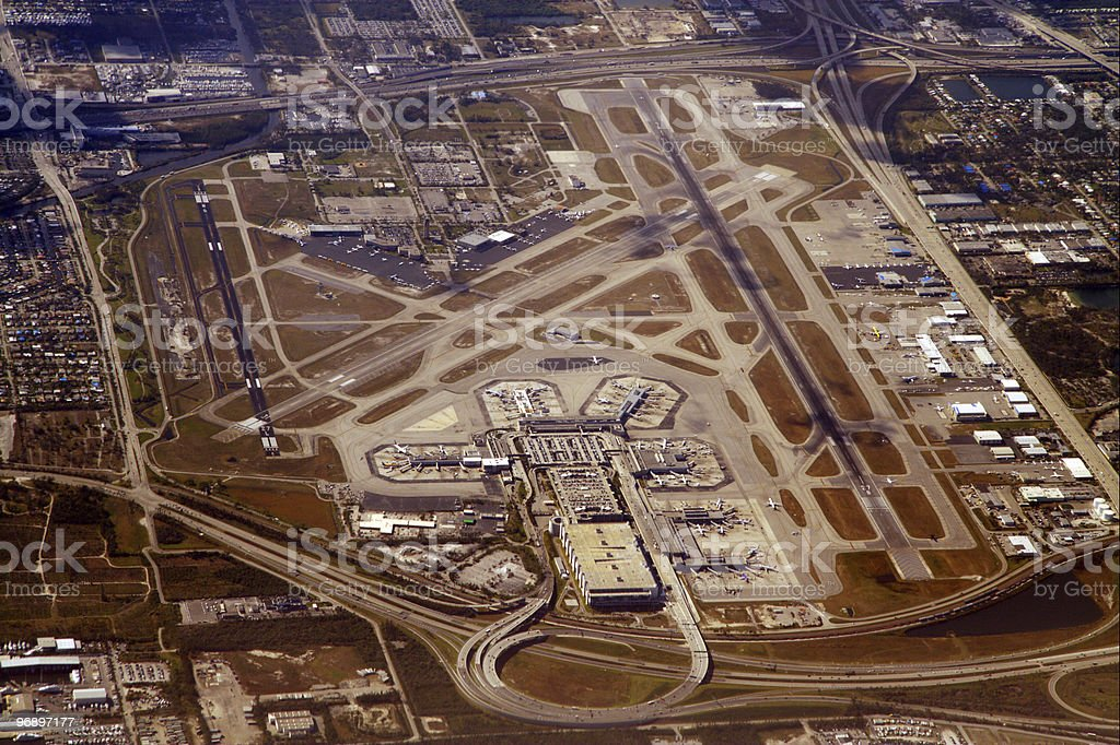 Miami International Airport royalty-free stock photo