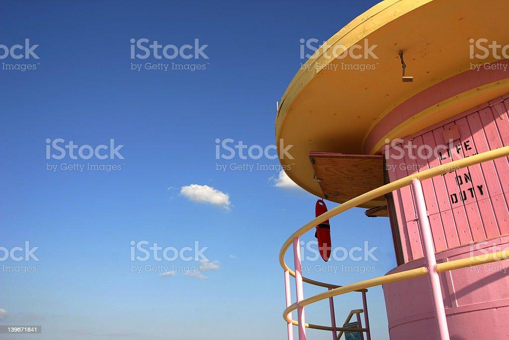 Miami Lifeguard Station stock photo
