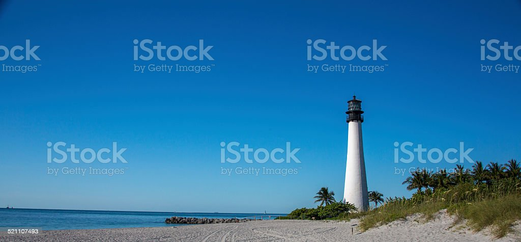 Miami Light House Bill Baggs State Park stock photo