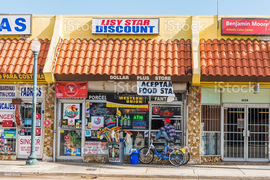 Miami Little Havana Calle Ocho Small Retail Businesses USA stock photo