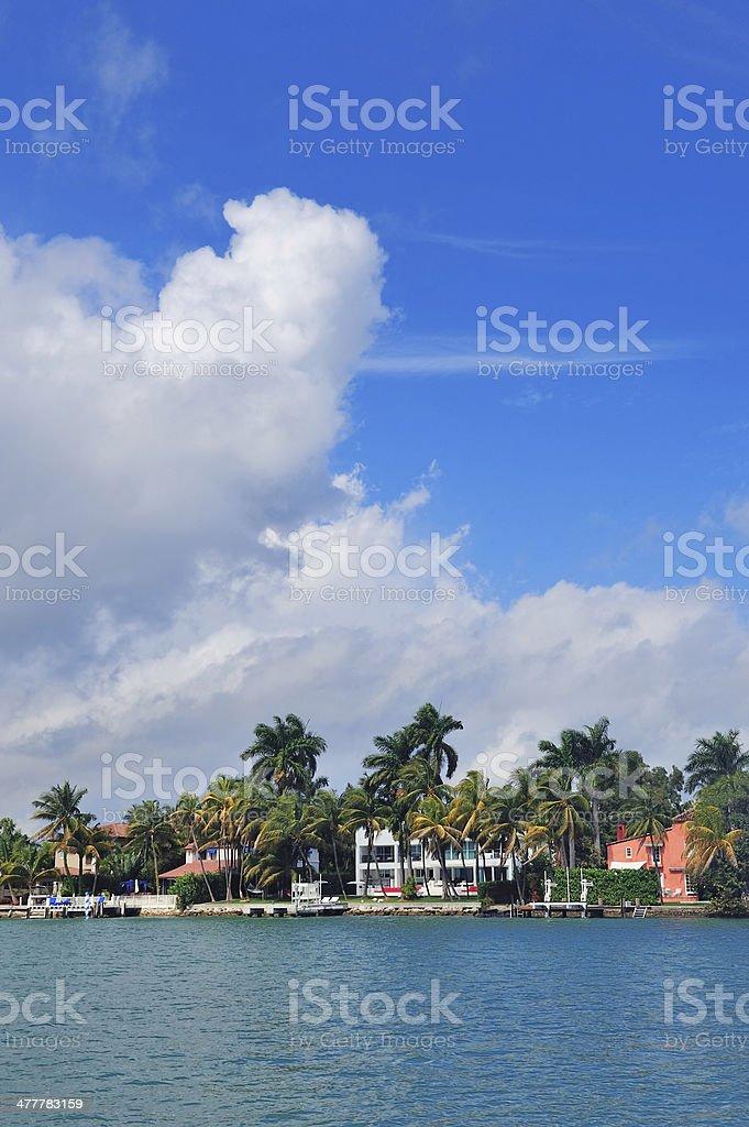 Miami Luxury house royalty-free stock photo
