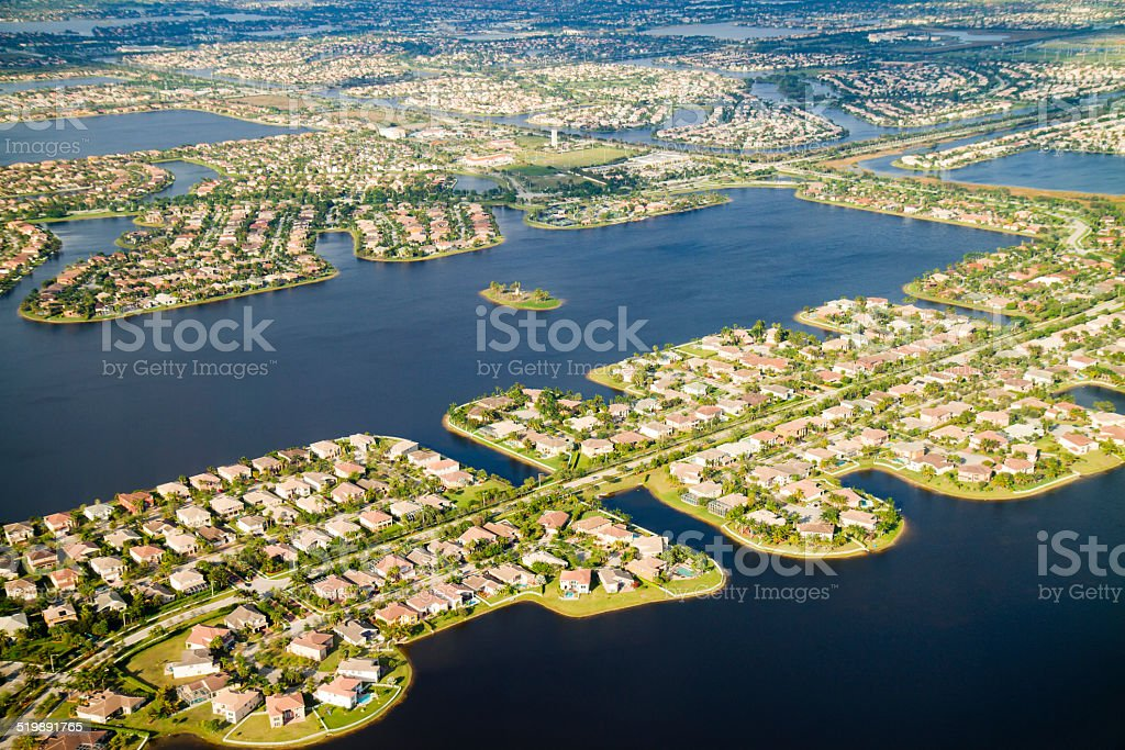 Miami luxury islands stock photo