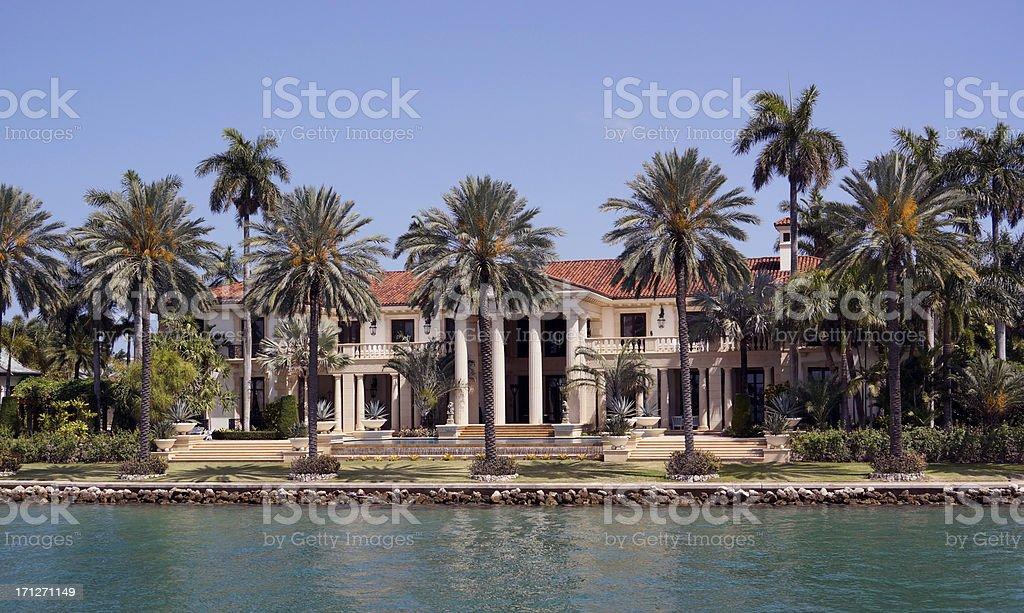 Miami mansion stock photo