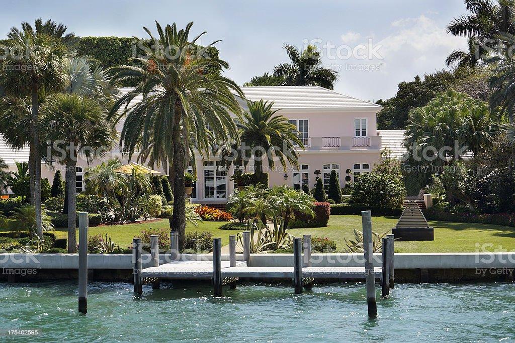 Miami mansion. stock photo