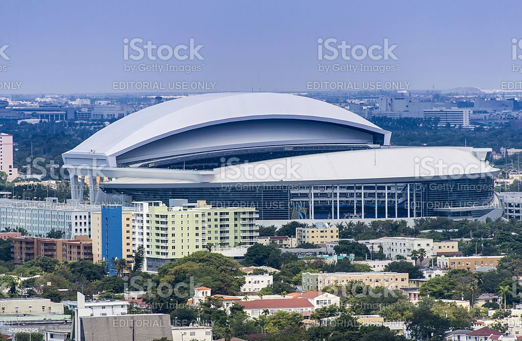 Miami Marlins Baseball Stadium stock photo